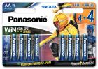 Батарейки Panasonic Evolta щелочные AA блистер, 8 шт Power Rangers (LR6EGE/8B4FPR) - изображение 1