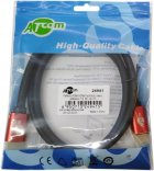 Кабель Atcom HDMI — HDMI 4K v.2.0 1 м Red/Gold (24941) - зображення 2