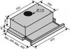Витяжка VENTOLUX GARDA 45 INOX (700) SLIM - зображення 7
