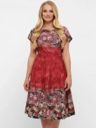 Платье VLAVI Лорен 1189239 54 Акварель Бордо (11892394) - изображение 3