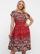 Платье VLAVI Лорен 1189239 54 Акварель Бордо (11892394) - изображение 4