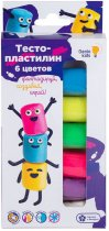 Набор Genio Kids-Art для детской лепки Тесто-пластилин 6 цветов (TA1090) (4814723007439) - изображение 1