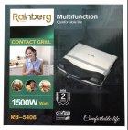 Гриль електричний контактний притискної Rainberg RB-5406 з антипригарним покриттям 1500W Black/Silver - зображення 7