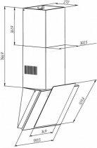 Вытяжка Pyramida NR-MV 60 (1000) M BL - изображение 3