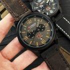 Наручний годинник AlexMosh чоловічі Curren Black-Brown (1016) - зображення 2