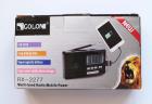 Аккумуляторный портативный радиоприемник Golon RX-2277 FM AM радио колонка с фонариком и USB выходом Черно-серебристый (DU007) - изображение 5