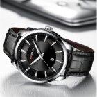 Годинники чоловічі Curren Panama з шкіряним ремінцем Чорний/Сріблястий - зображення 4