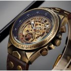 Часы мужские Winner Status механические с автоподзаводом и металлическим браслетом Коричневый - изображение 4