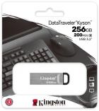 Kingston DataTraveler Kyson 256GB USB 3.2 Silver/Black (DTKN/256GB) - зображення 4