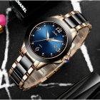 Годинники жіночі Sunkta Ceramic з керамічним браслетом Чорний/Золотистий - зображення 5