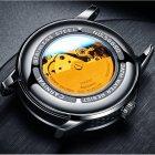 Годинники чоловічі Carnival Special механічні з автопідзаводом і металевим браслетом Чорний/Синій - зображення 9