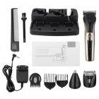 Набор для стрижки волос Kemei LFQ-KM-590A New 3 Вт аккумуляторная машинка бритва и триммер для бороды 7 в 1 + подставка - изображение 5