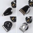 Набор для стрижки волос Kemei LFQ-KM-590A New 3 Вт аккумуляторная машинка бритва и триммер для бороды 7 в 1 + подставка - изображение 6