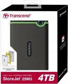 """Жорсткий диск Transcend StoreJet 25M3S 4 TB TS4TSJ25M3S 2.5"""" USB 3.1 Gen 1 External Iron Gray - зображення 3"""