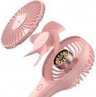 Вентилятор портативный BASEUS Bingo Hand & Desktop Fan Pink (CXBG-04) - изображение 2