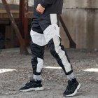 Спортивные штаны Over Drive Split черно-белые с рефлективом XL - изображение 2