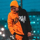 Худи Over Drive Scratch черно-оранжевое M - изображение 1