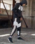 Спортивні штани Over Drive Split чорно-білі з рефлективом XL - зображення 9