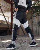Спортивные штаны Over Drive Split черно-белые с рефлективом XS - изображение 6