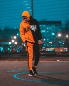 Худи Over Drive Scratch черно-оранжевое M - изображение 7