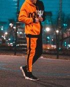 Худи Over Drive Scratch черно-оранжевое M - изображение 8