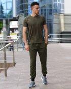 Мужской комплект футболка и спортивные штаны WB размер M оливковый - изображение 1