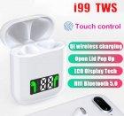 Беспроводные bluetooth наушники i99 tws белые - изображение 6