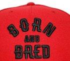 Кепка снепбек Born and Bred с прямым козырьком Красная, Унисекс - изображение 4