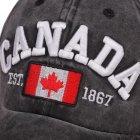 Кепка бейсболка Canada 2 Чорна, Унісекс - зображення 3