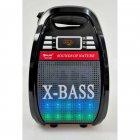 Колонка комбік Bluetooth mp3 радіомікрофон пульт світломузика Golon RX-810 BT, акустика, для дому, природи, портативна, чорна - зображення 2