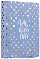 Ежедневник недатированный Yes Good Vibes A6 432 страницы Стальной синий (252050) - изображение 1