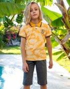 Комплект Elsima с футболкой-поло 104 см желто-серый (645.v5) - изображение 1