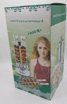 Электрошашлычница на 6 шампурів Електрогриль для приготування шашлику будинку электромангал - зображення 4