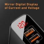 Зарядний пристрій для телефону, смартфона з швидкою зарядкою QC 3.0 з дисплеєм BASEUS Mirror Lake Dual QC |2USB, QC3.0, 18W| - зображення 6