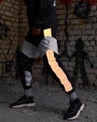 Спортивные штаны Пушка Огонь Split черно-белые с рефлективом XL - изображение 3