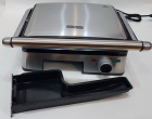 Гриль електричний DSP KB1045 професійний з функцією контролю температури [1800 ВТ] знімні панелі, Сріблястий - зображення 4