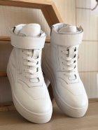 Высокие кеды на липучке Shoozi bench кожаные 36 белые - изображение 2