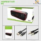 Переносная Колонка Hopestar P8 USB влагозащищенная Bluetooth и функцией громкой связи - Портативная акустическая система с хорошим звучанием и басом - Акустика с функцией PowerBank + AUX, Black-red - изображение 4