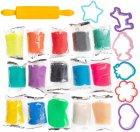 Набор для детской лепки Genio Kids Тесто-пластилин 12 + 3 цвета (TA1068S) (4814723007743) - изображение 4