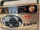 Радиоприемник Bluetooth аккумуляторный с пультом управления радио Kemai (РЕТРО-503-BT) с ручкой - изображение 4