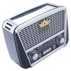 Портативный аккумуляторный Ретро Радиоприемник GoVern RX-455S (Golon) Black - изображение 2