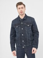 Джинсова куртка Calvin Klein Jeans Foundation Denim Jacket J30J316194-1BJ XL Blue Black (8719853202975) - зображення 1