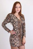 Платье женское YONG CHUN 3652-1 (Кофе с молоком XL) - изображение 2