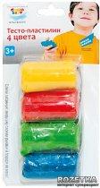 Набор для детского творчества Genio Kids Тесто-пластилин 4 цвета (TA1055B) - изображение 1