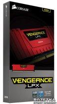 Оперативна пам'ять Corsair DDR4-3200 16384MB PC4-25600 (Kit of 2x8192) Vengeance LPX (CMK16GX4M2B3200C16R) Red - зображення 7