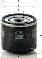 Фильтр масляный MANN W 79 - изображение 1