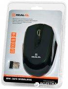 Миша Real-El RM-325 Wireless Black - зображення 3