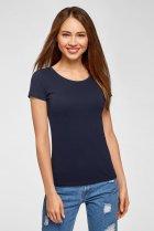 Женская синяя футболка Oodji XS 14701005-7B/46737N/7900N - изображение 1