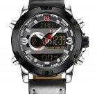 Чоловічі спортивні кварцові годинники Naviforce Kosmos Black NF9097 - зображення 3