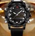 Чоловічі спортивні кварцові годинники Naviforce Kosmos Black NF9097 - зображення 4